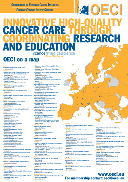 ORGANISATION OF EUROPEAN CANCER INSTITUTES