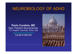 NEUROBIOLOGY OF ADHD