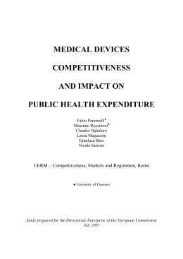 medical devices competitiveness and impact on public