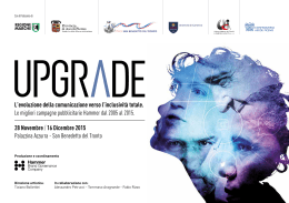Press kit - Mostra Upgrade