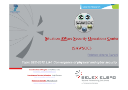 Situation AWare Security Operations Center (SAWSOC)