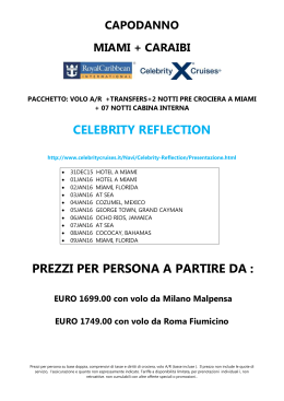 CELEBRITY REFLECTION PREZZI PER PERSONA A