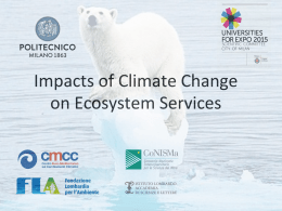 Impacts of Climate Change on Ecosystem Services
