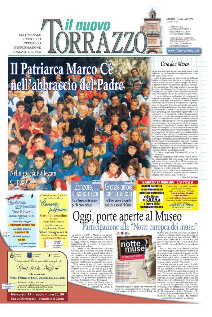 CREMA - Il Nuovo Torrazzo e0e3c27ae571