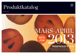 Total produktkatalog for perioden mars/april 2013
