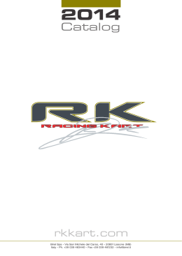 Catalog - RK RACING KART by Robert Kubica