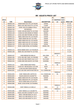 MV AGUSTA PRICE LIST - portal comunidad mv