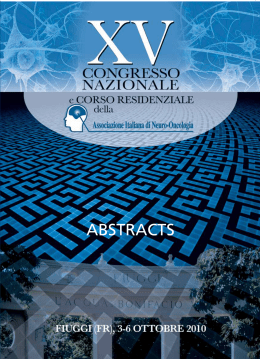 Volume Abstract - Associazione Italiana di Neuro