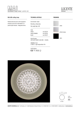 white MAI LED ceiling lamp TECHNICAL
