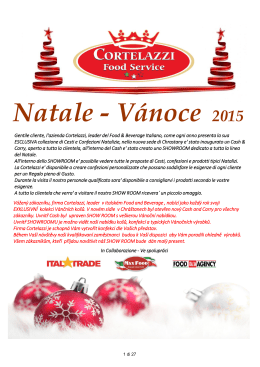 Natale - Vánoce 2015 - HO.RE.CA. Food Service