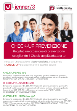 offerta di check up personalizzati