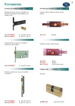 Sas-5vds catenacci contatto con l/'installazione in norma-delle serrature