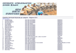 Classifica Nazionale Individuale - Allievi