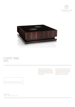 COFFEE TABLE D50 - Rivalto