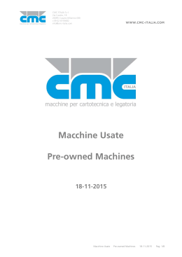 Macchine Usate Pre-owned Machines