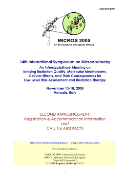 Second Announc - Micros 2005