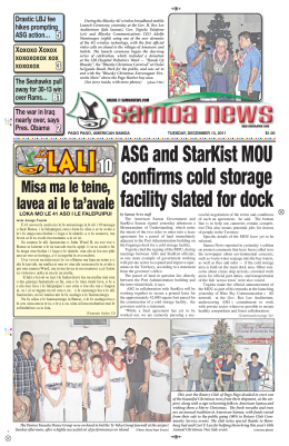 ASG and StarKist MOU confirms cold storage facility
