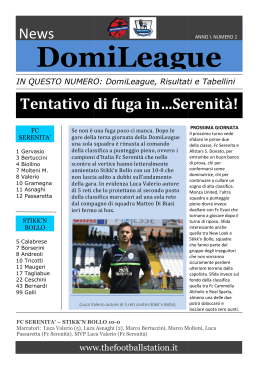 DomiLeague News n°1 - The Football Station