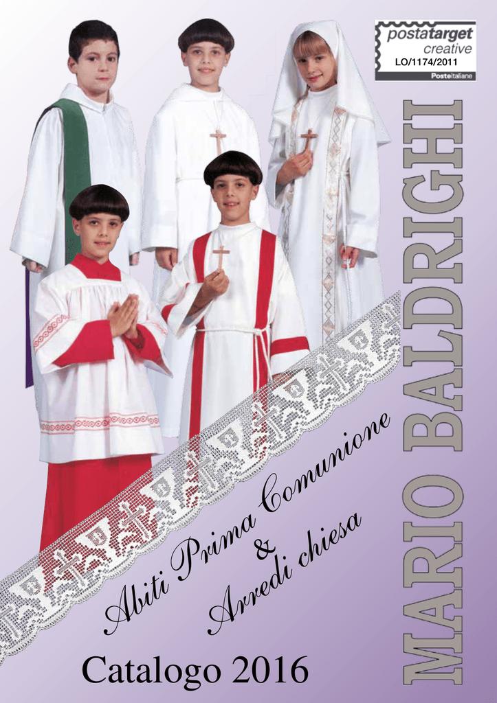 Catalogo 2016 Abiti Prima Comunione ed arredi Chiesa baca02bbebe9
