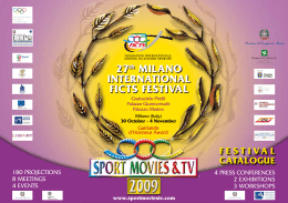 27th MILANO INTERNATIONAL FICTS FESTIVAL