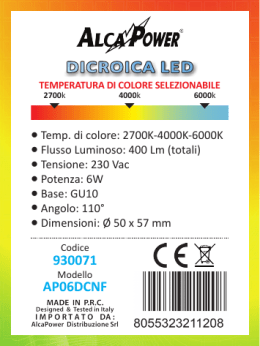 DICROICA LED