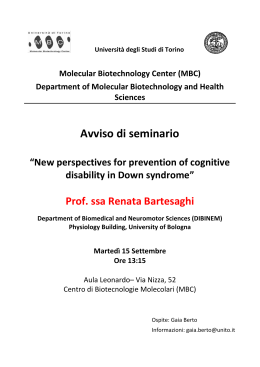 New perspectives for prevention of cognitive disability in Down