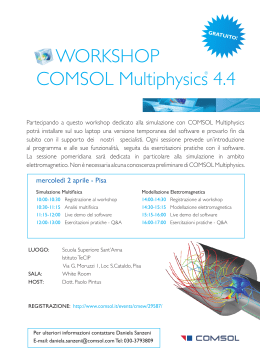 WORKSHOP COMSOL Multiphysics 4.4