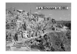 La Sincope in OBI. Dott. Trisolino