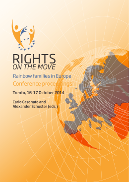 Rights on the move : rainbow families in Europe - Unitn