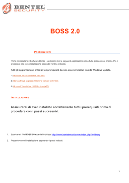 BOSS 2.0 - Bentel Security