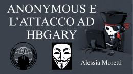 ANONYMOUS E L`ATTACCO AD HBGARY