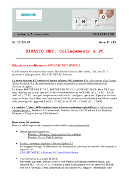 SIMATIC NET: Collegamento a PC