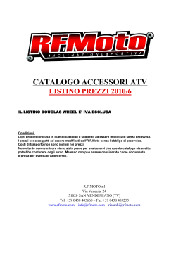 CATALOGO ACCESSORI ATV