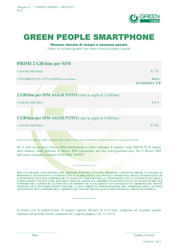 Green People Smartphone - Green Telecomunicazioni