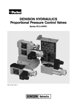 DENISON HYDRAULICS Proportional Pressure Control Valves
