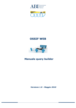 OSSIF WEB Manuale query builder