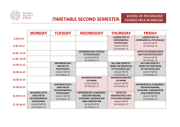 TIMETABLE SECOND SEMESTER