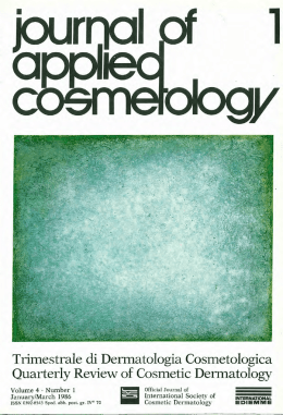 Trimestrale di Dermatologia Cosmetologica Quarterly Review of