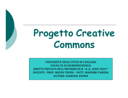 Progetto Creative Commons
