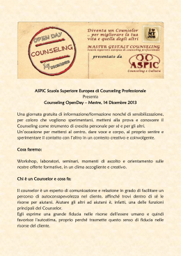 ASPIC Scuola Superiore Europea di Counseling Professionale
