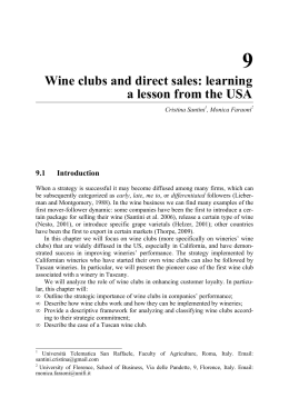 9 Wine clubs and direct sales: learning a lesson from the USA