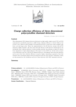 Charge collection efficiency of three-dimensional