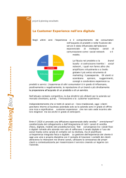 La Customer Experience nell`era digitale