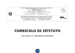 CURRICOLO DI ISTITUTO - stoppanicomprensivo.it