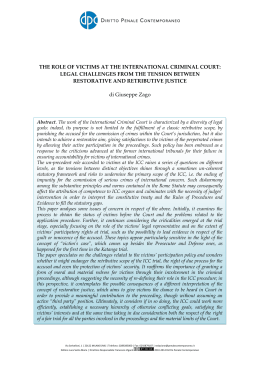 the role of victims at the international criminal court