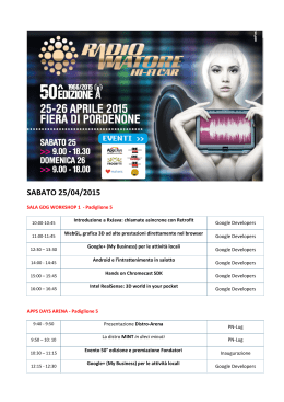 Programma talk, seminari, conferenze, corsi