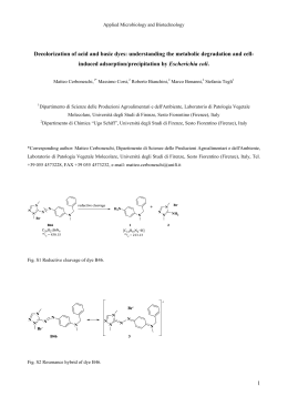 1 Decolorization of acid and basic dyes: understanding the