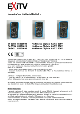 Manuale d`uso Multimetri Digitali : EX-835B 85001000