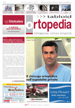 Tabloid di Ortopedia 4-2013