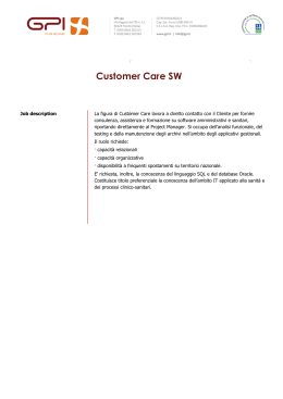 Customer Care SW